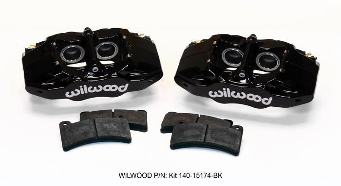 CALIPERS NEW WILWOOD SLC56 BLACK FRONT DISC BRAKE KIT FOR 97-13 CORVETTE C-5 C-6 Z06 PADS ROTORS 1997 1998 1999 2000 2001 2002 2003 2004 2005 2006 2007 2008 2009 2010 2011 2012 2013